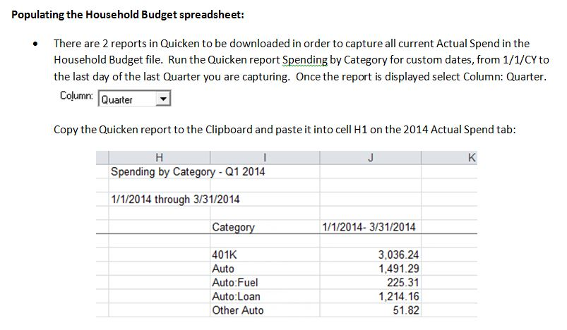 Household Budget File Using Quicken Download – Microsoft